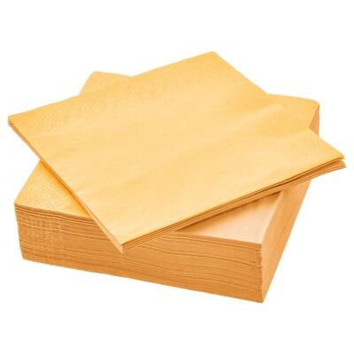FANTASTISK papieren servet geel 33 cm 33 cm 50 st.