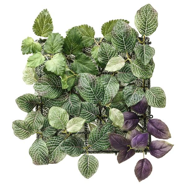 FEJKA Kunstplant, wandgemonteerd/binnen/buiten groen/paars, 26x26 cm
