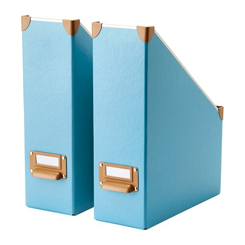 Ikea Keuken Blauw : IKEA Magazine File Holder Boxes