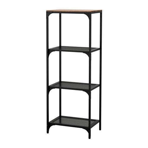 Metalen Stellingkast Zwart.Fjallbo Stellingkast Ikea