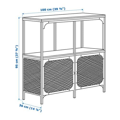 Metalen Stellingkast Ikea.Fjallbo Stellingkast Ikea
