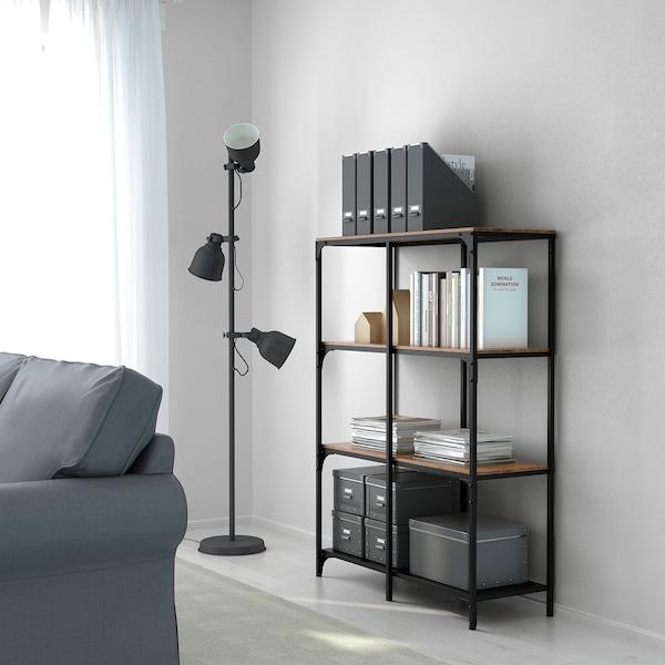FJÄLLBO Stellingkast, zwart, 100x136 cm