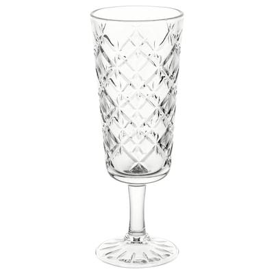 FLIMRA Champagneglas, helder glas/met een patroon, 19 cl