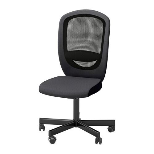 Bureaustoel 60 Cm Zithoogte.Flintan Bureaustoel Vissle Grijs Ikea