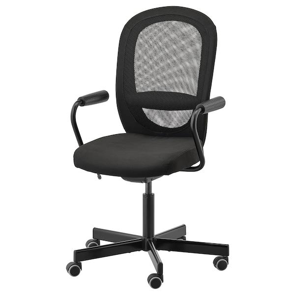 Bureaustoel Vaste Poten.Flintan Nominell Bureaustoel Met Armleuningen Zwart Ikea