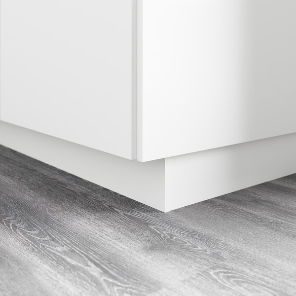 FÖRBÄTTRA plint mat wit 213.3 cm 11.4 cm 1.0 cm