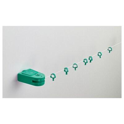 FÖRSYNT gordijnkabel groen 200 cm 2 kg