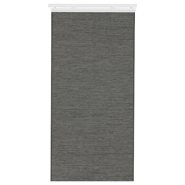 FÖNSTERVIVA Paneelgordijn, donkergrijs, 60x300 cm