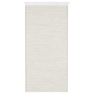 FÖNSTERVIVA Paneelgordijn, wit/beige, 60x300 cm