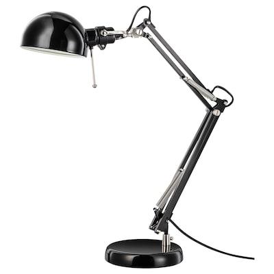 FORSÅ bureaulamp zwart 40 W 35 cm 15 cm 12 cm 1.8 m