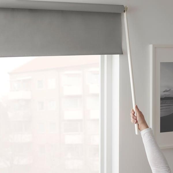 FRIDANS Verduisterend rolgordijn, grijs, 100x195 cm