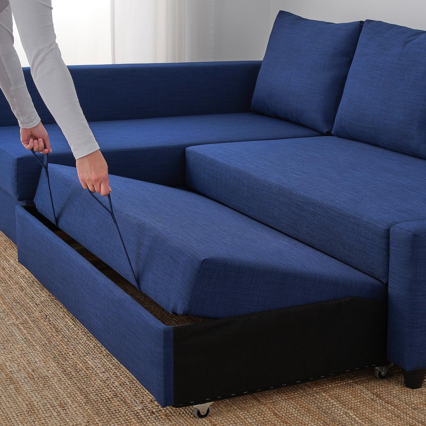 Friheten Hoekslaapbank Skiftebo Donkergrijs Ikea.Friheten Hoekslaapbank Met Opberger Skiftebo Blauw Ikea