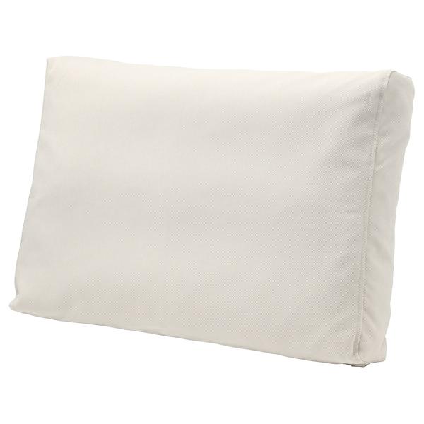 FRÖSÖN/DUVHOLMEN Rugkussen, buiten, beige, 62x44 cm