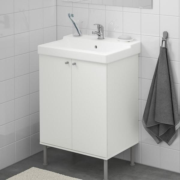 FULLEN / TÄLLEVIKEN kast voor wastafel wit/OLSKÄR kraan 61 cm 60 cm 41 cm 87 cm