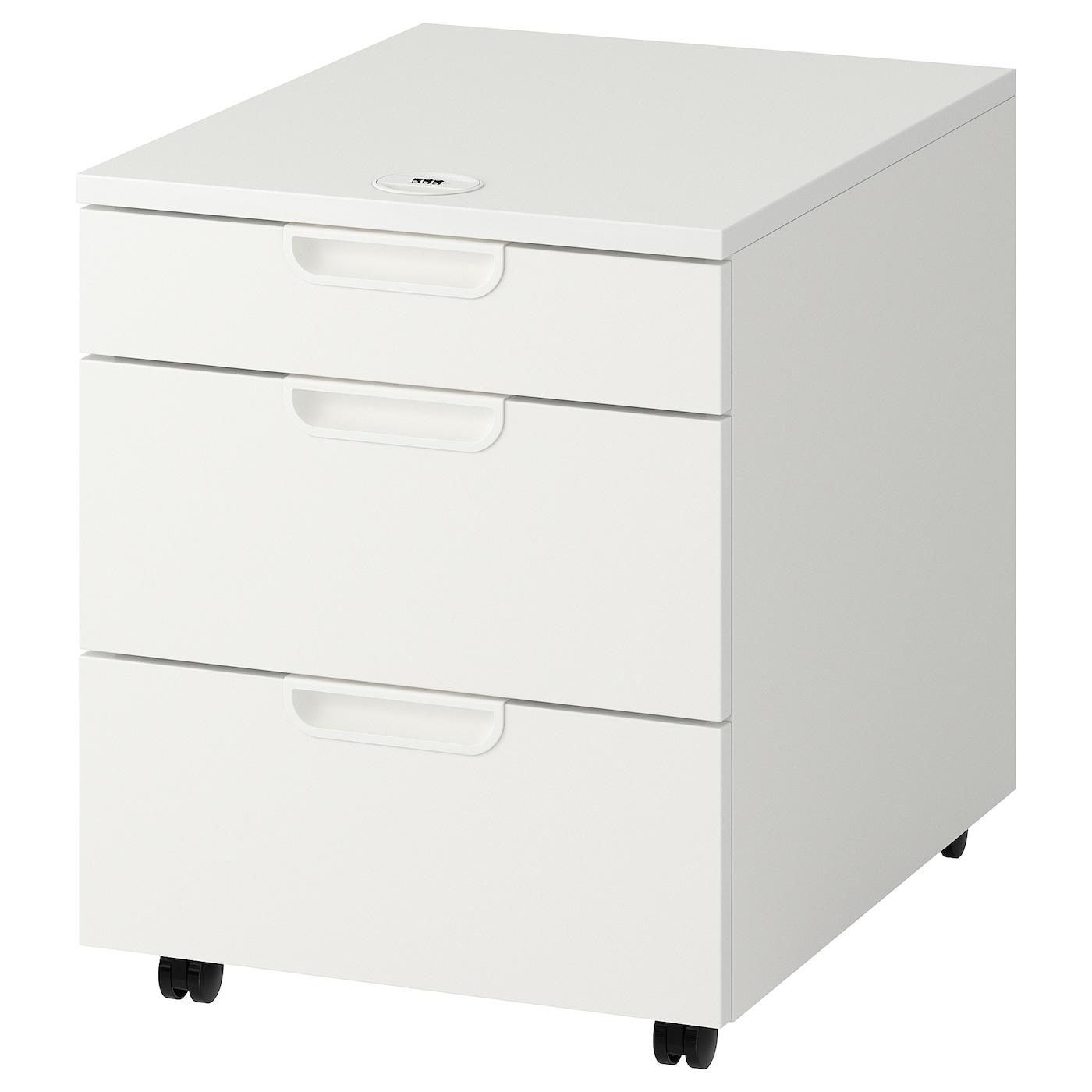 Wonderbaar GALANT Ladeblok op wielen, wit, 45x55 cm - IKEA DF-87