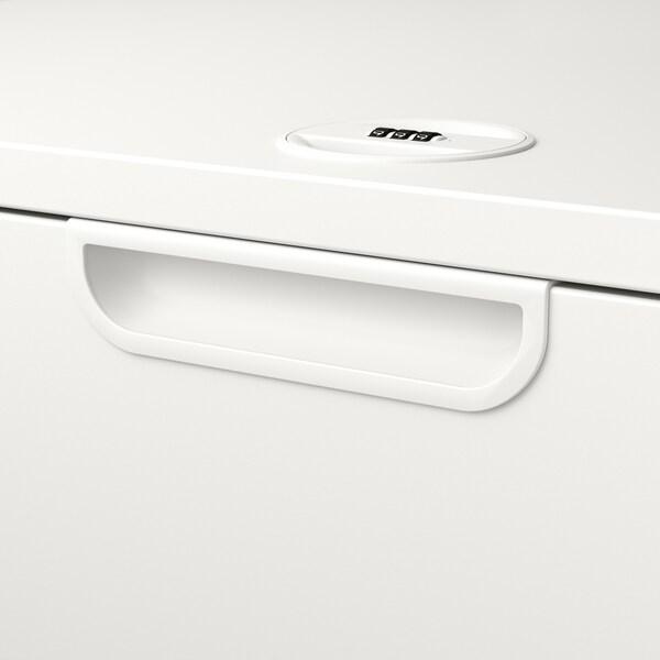 GALANT Ladeblok met hangmappenhouder, wit, 80x80 cm