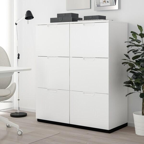 GALANT Opbergcombi met hangmappenhouder, wit, 102x120 cm