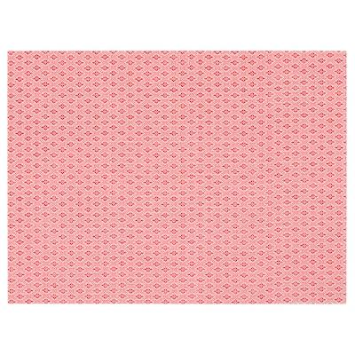 GALLRA Placemat, rood/met een patroon, 45x33 cm