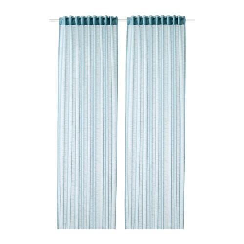GJERTRUD Vitragegordijnen, 1 paar - grijsblauw - IKEA
