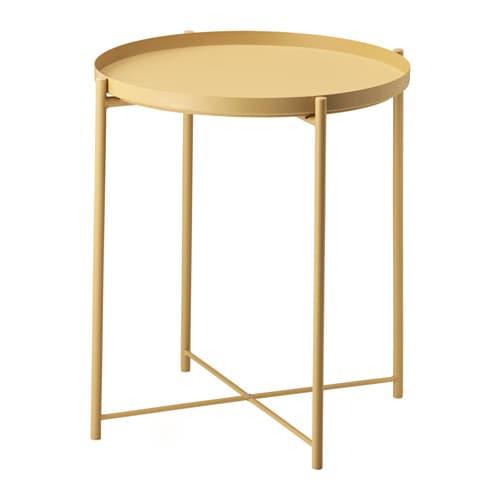 GLADOM Salontafel met dienblad lichtgeel IKEA