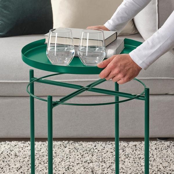 GLADOM salontafel met dienblad groen 53 cm 45 cm