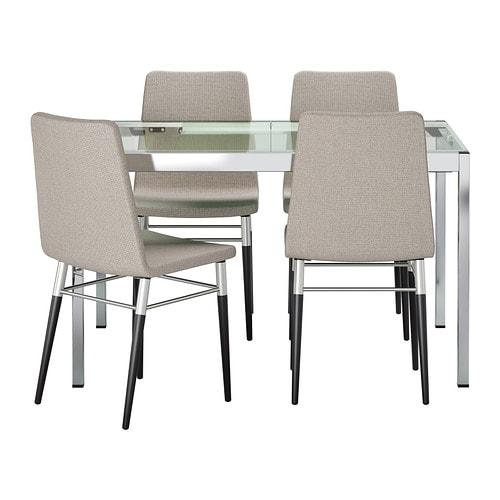 GLIVARP / PREBEN Tafel en 4 stoelen - IKEA