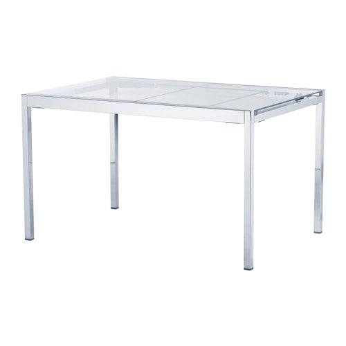 GLIVARP Uittrekbare tafel IKEA De glasplaat laat licht door, waardoor ...