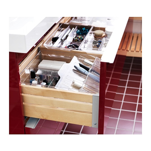 Ikea Grundtal Glass Bathroom Shelf ~   ikea drawer organizer drawer organisation sink organization godmorgon