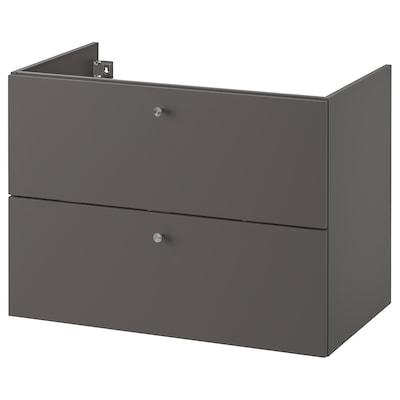 GODMORGON Kast voor wastafel met 2 lades, Gillburen donkergrijs, 80x47x58 cm