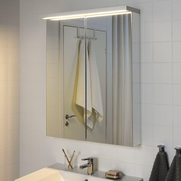GODMORGON Led-kast-/wandlamp, wit, 80 cm