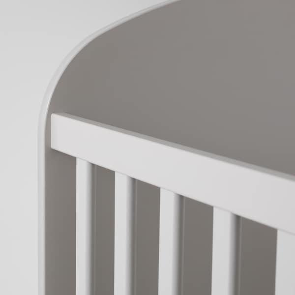 GONATT Babybedje, lichtgrijs, 60x120 cm
