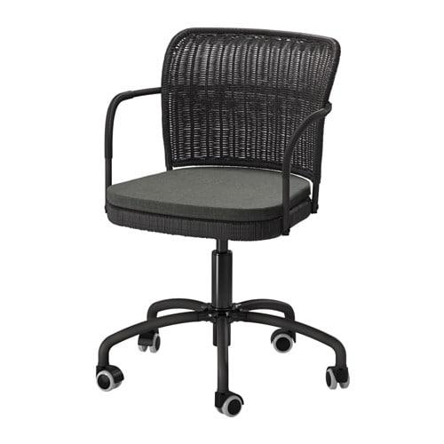 GREGOR Bureaustoel   zwart  Svanby grijs,   IKEA