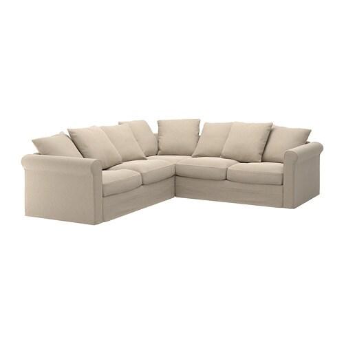 Gr nlid hoekbank 4 zits sporda naturel ikea for Ikea divani esterno