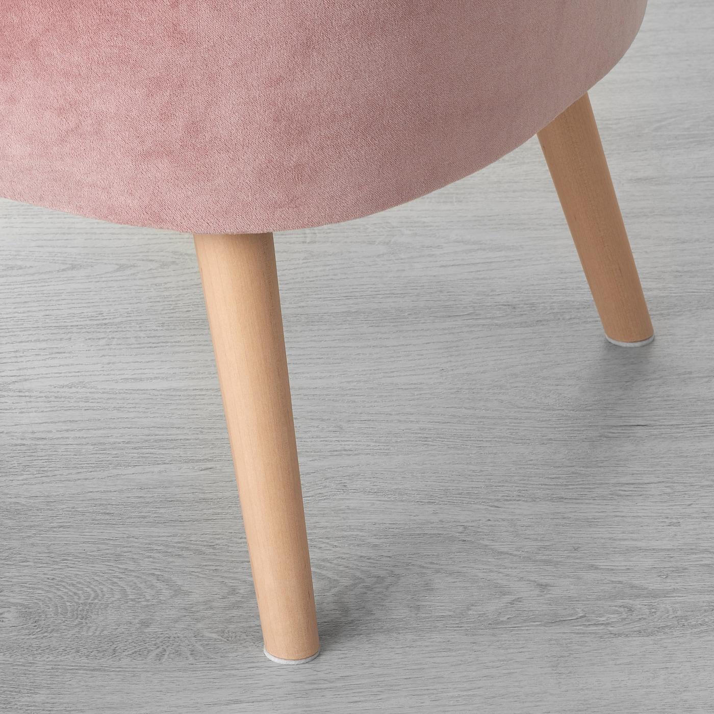 GUBBO Fauteuil, fluweel roze IKEA