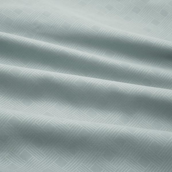 GULLTÖREL Dekbedovertrek en 2 kussenslopen, lichtblauw, 200x200/60x70 cm