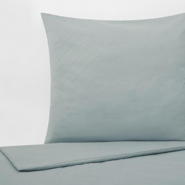 GULLTÖREL Dekbedovertrek en kussensloop, lichtblauw, 140x200/60x70 cm