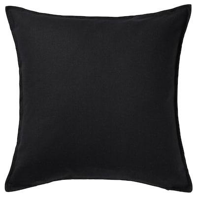 GURLI Kussenovertrek, zwart, 65x65 cm