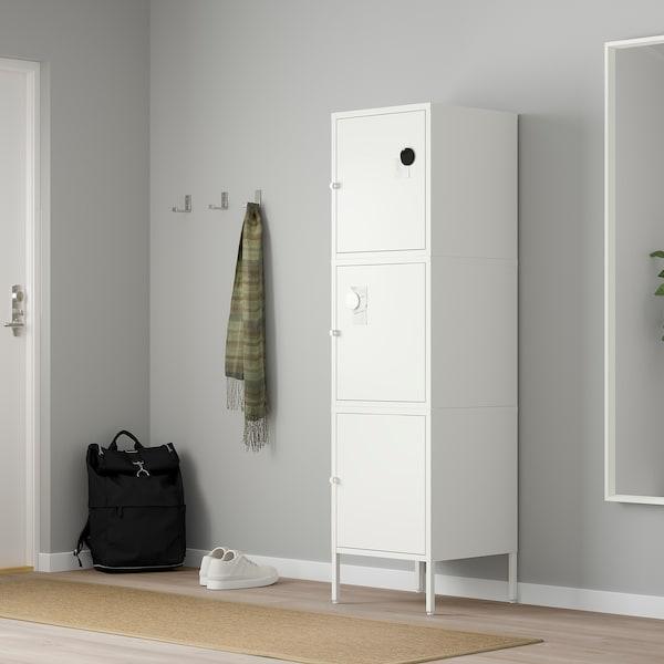 HÄLLAN opberger met deuren wit 45 cm 47 cm 167 cm