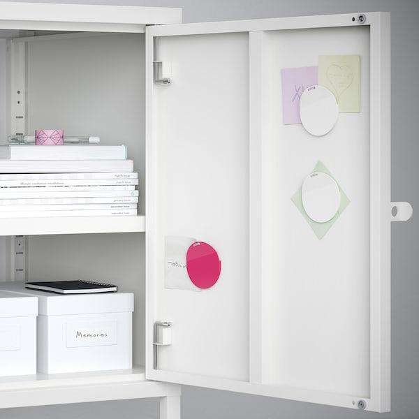 HÄLLAN Opberger met deuren, wit, 90x47x167 cm