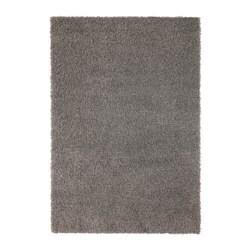 HAMPEN Vloerkleed, hoogpolig, grijs