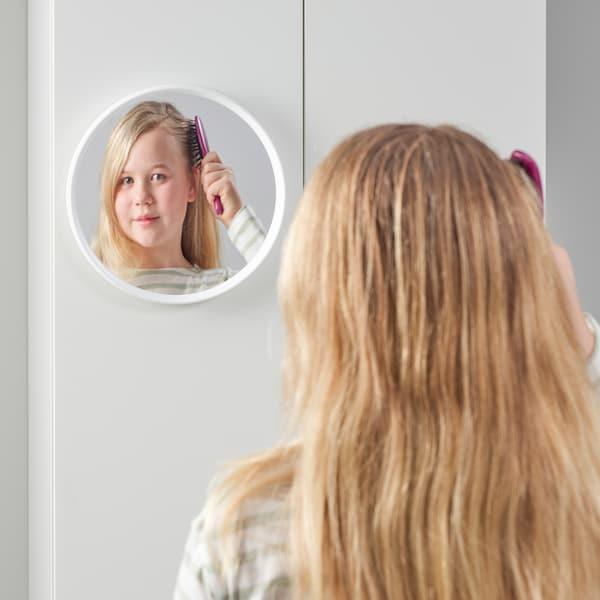 HÄNGIG Spiegel, wit/rond, 26 cm