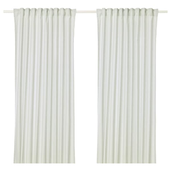 HANNALILL Gordijnen, 1 paar, lichtgroen, 145x300 cm
