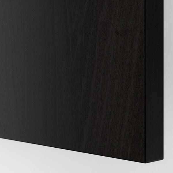 HASVIK Schuifdeur, set van 2, zwartbruingelazuurd esseneffect, 150x236 cm