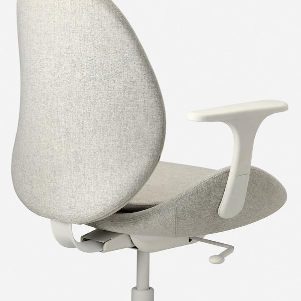 HATTEFJÄLL bureaustoel met armleuningen Gunnared beige/wit 110 kg 68 cm 68 cm 110 cm 50 cm 40 cm 41 cm 52 cm