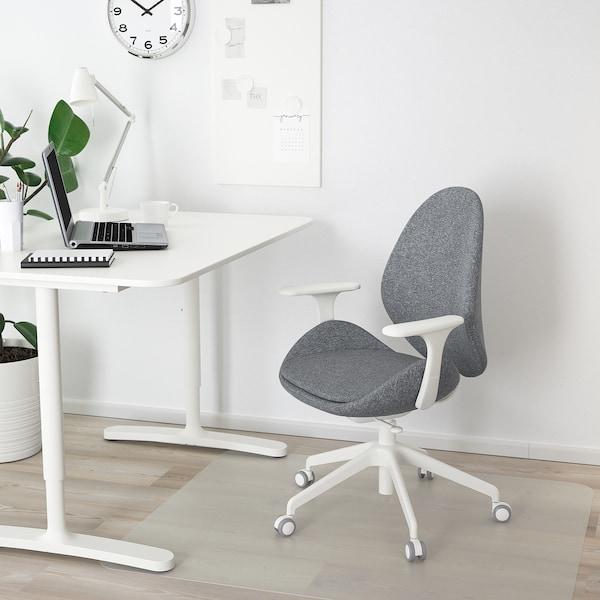 HATTEFJÄLL bureaustoel met armleuningen Gunnared middengrijs/wit 110 kg 68 cm 68 cm 110 cm 50 cm 40 cm 41 cm 52 cm