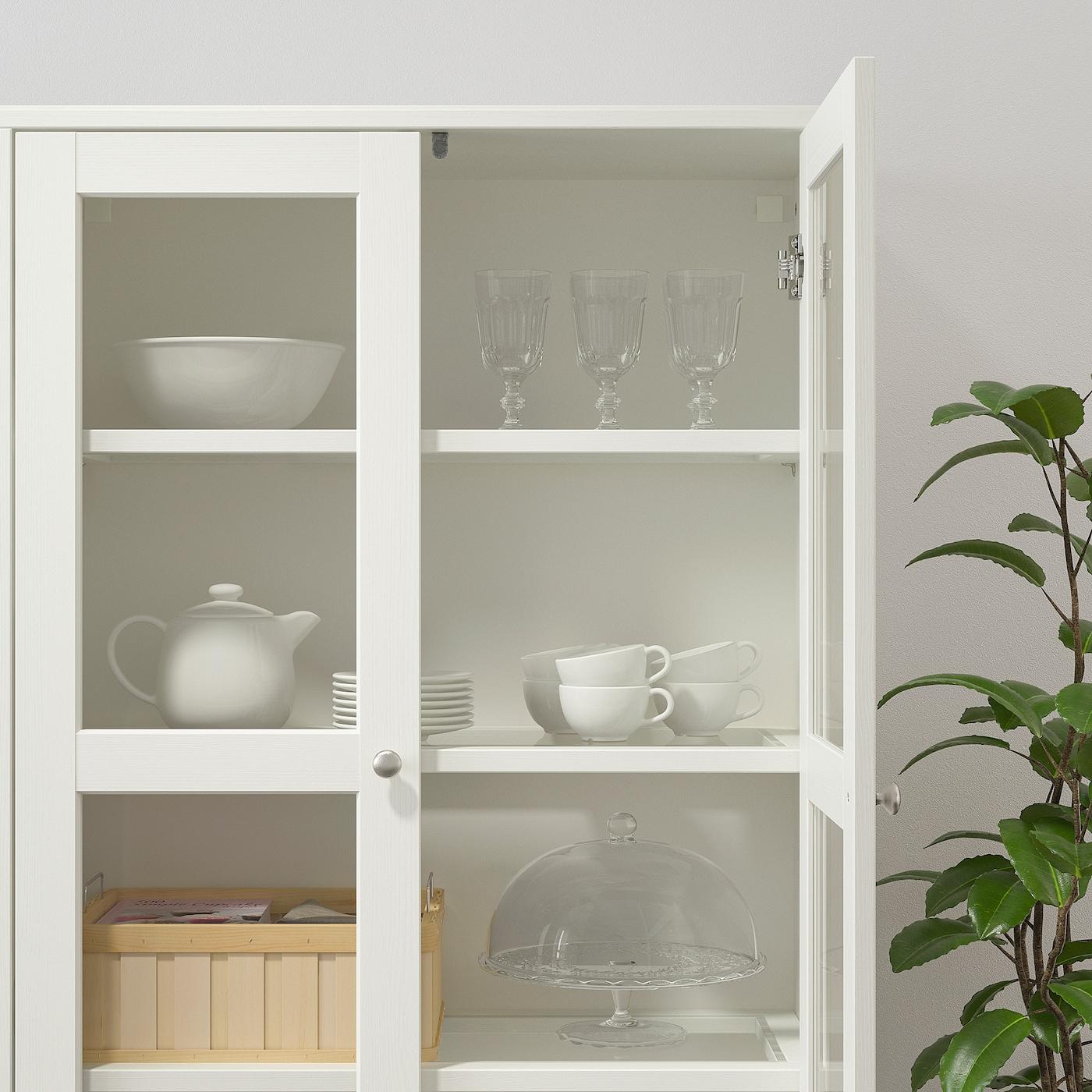 Havsta Opberger Met Vitrinedeuren Wit 162x37x134 Cm Ikea