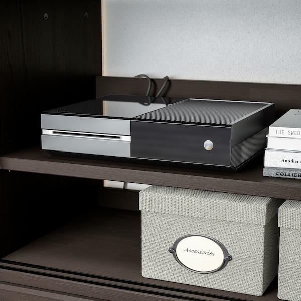 HAVSTA Tv-meubel, combi, donkerbruin, 282x47x212 cm