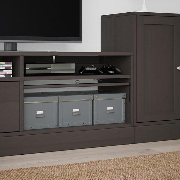 Ikea Tv Meubel Grenen.Havsta Tv Meubel Combi Donkerbruin 241x47x89 Cm Ikea