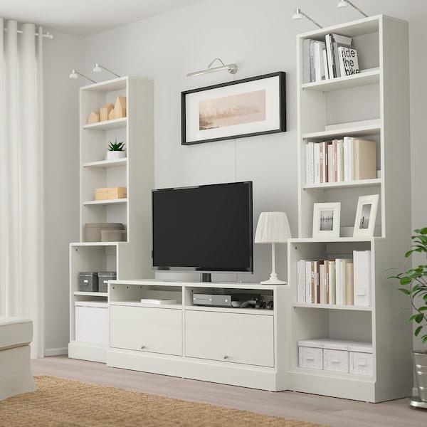 Ikea Tv Meubel Combinatie.Havsta Tv Meubel Combi Wit 282x47x212 Cm Ikea