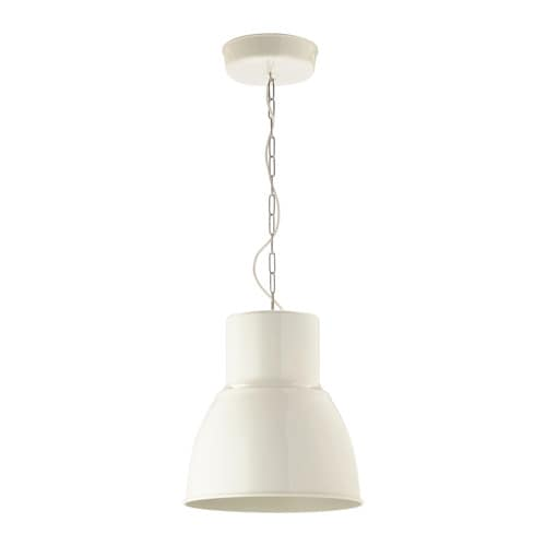 HEKTAR Hanglamp - wit, 38 cm - IKEA